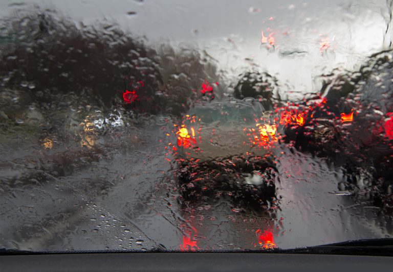 Avoid driving like a maniac in bad weather