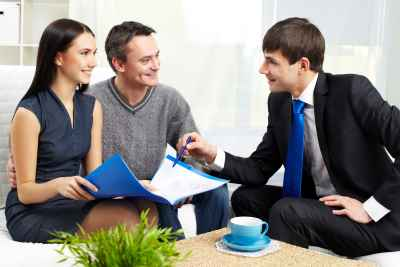 discussing home insurance