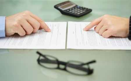 reviewing insurance coverage